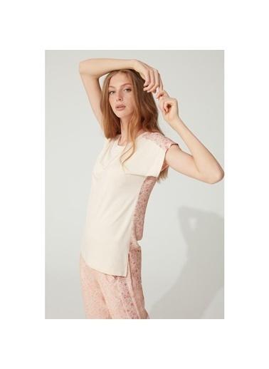 Feyza Pijama Takım Somon